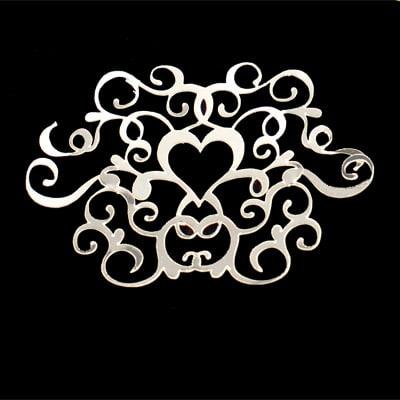 Hjerte med ornamentik