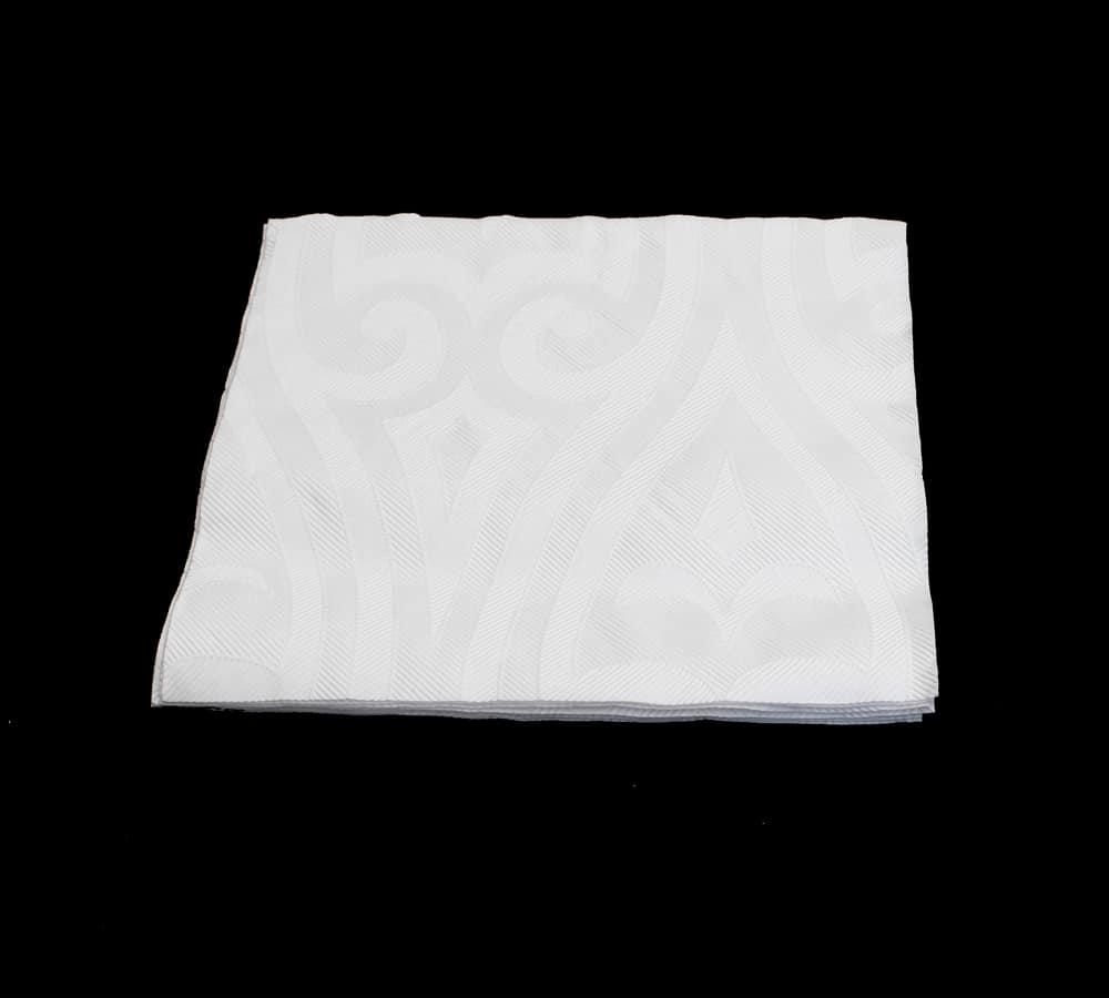 Præget hvid serviet