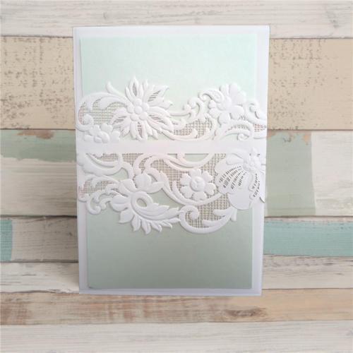 Eksklusivt kort med blomsterblonde