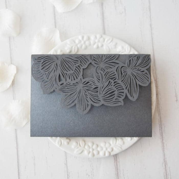 Pocketkort med blomsterflap