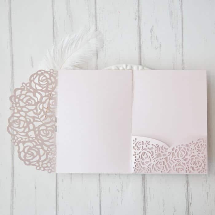 Pocketkort med roser