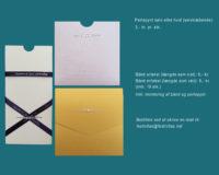 Kort med perler og silkebånd
