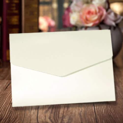 A6 pocket kort kuvert hvid