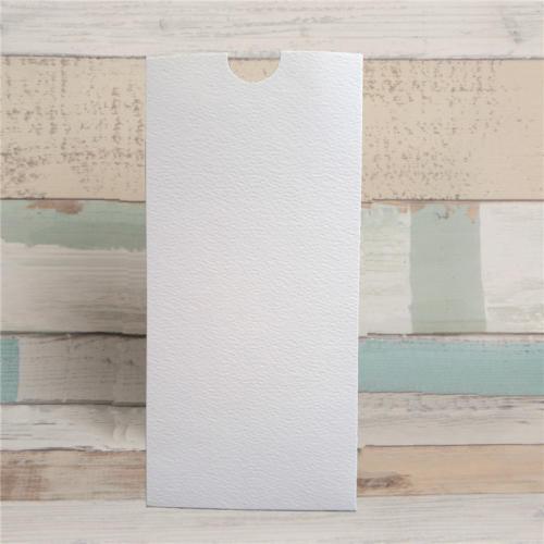 Etui kort hvidt hammerslået mønster