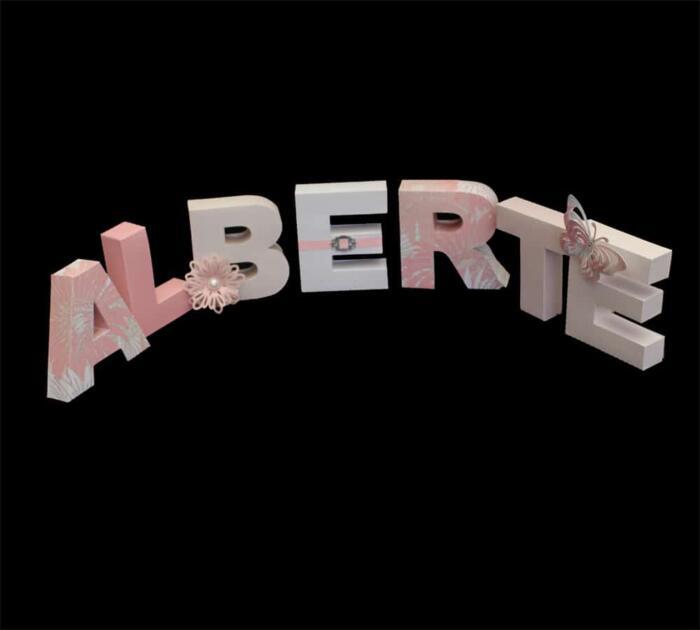 3D bogstaver saml selv
