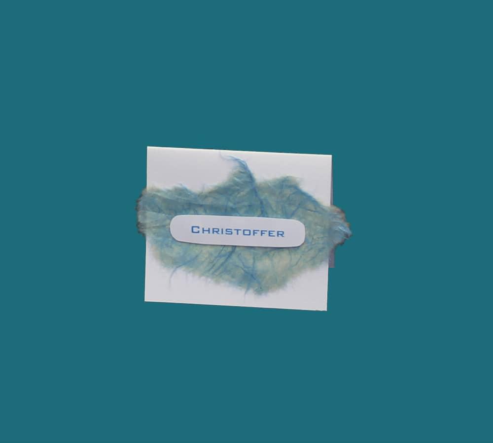 Bordkort til konfirmation med efefktpapir