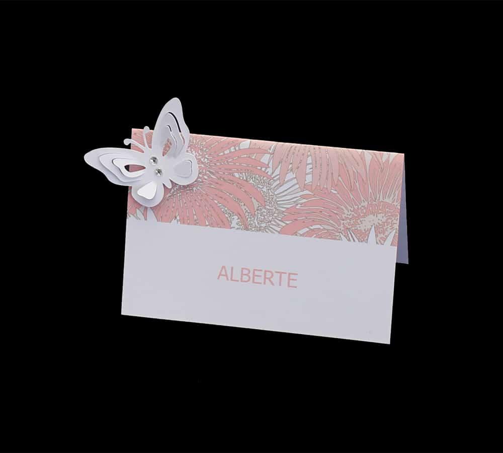 Bordkort med sommerfugl