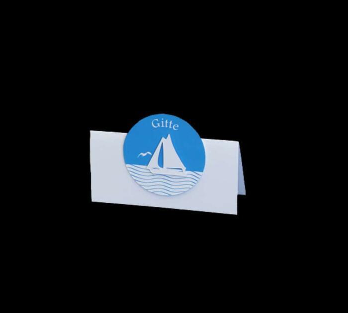 bordkort med skib