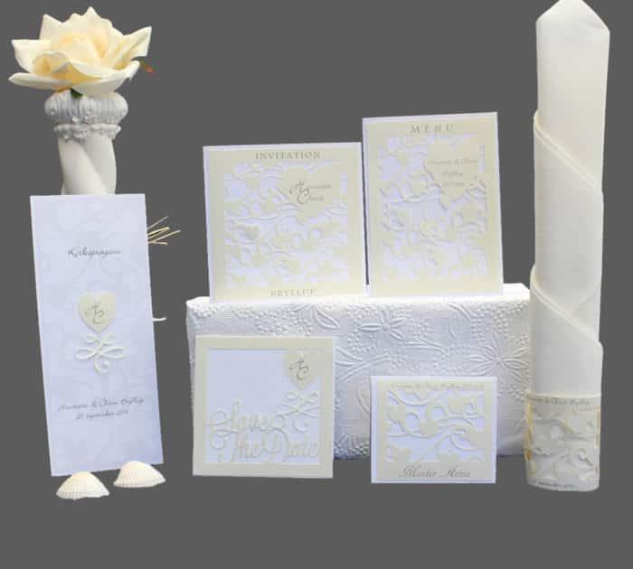 bryllupskort - komplet serie - cupido