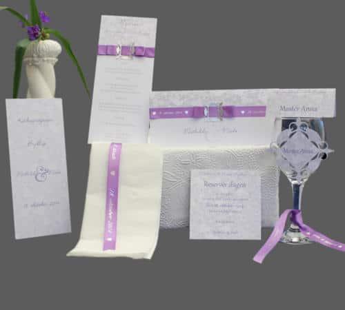 bryllupskort - komplet serie - dove