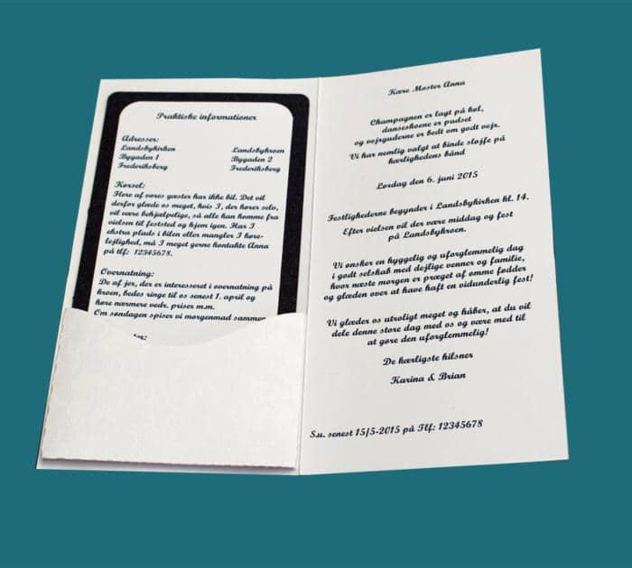 pocket kort med lomme til indstik