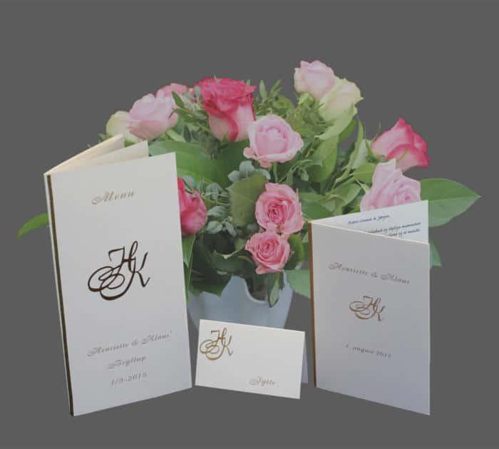 bryllupskort - komplet serie - simplicity