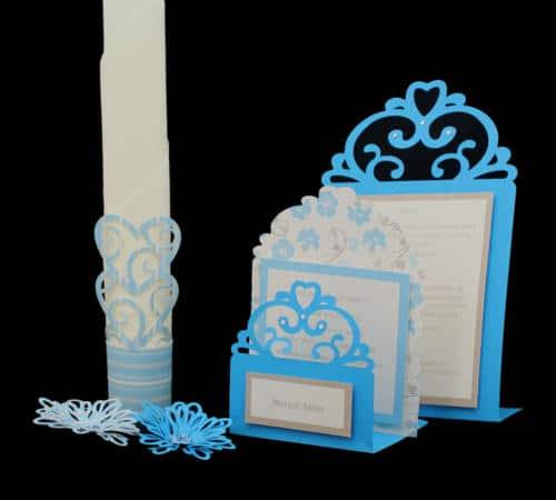 bryllupsserie til bordet, bordkort, hvem-er-hvem, menukort, serviet