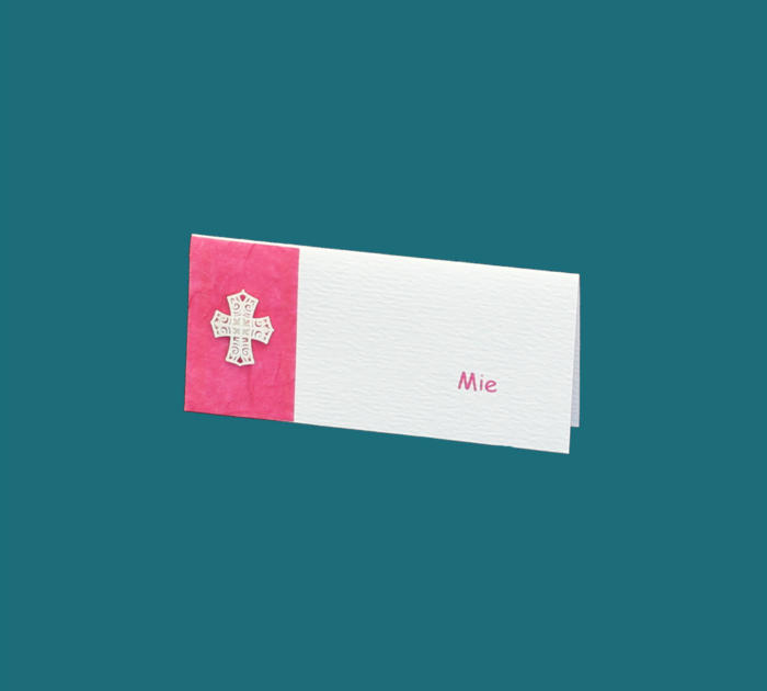 Bordkort i pink