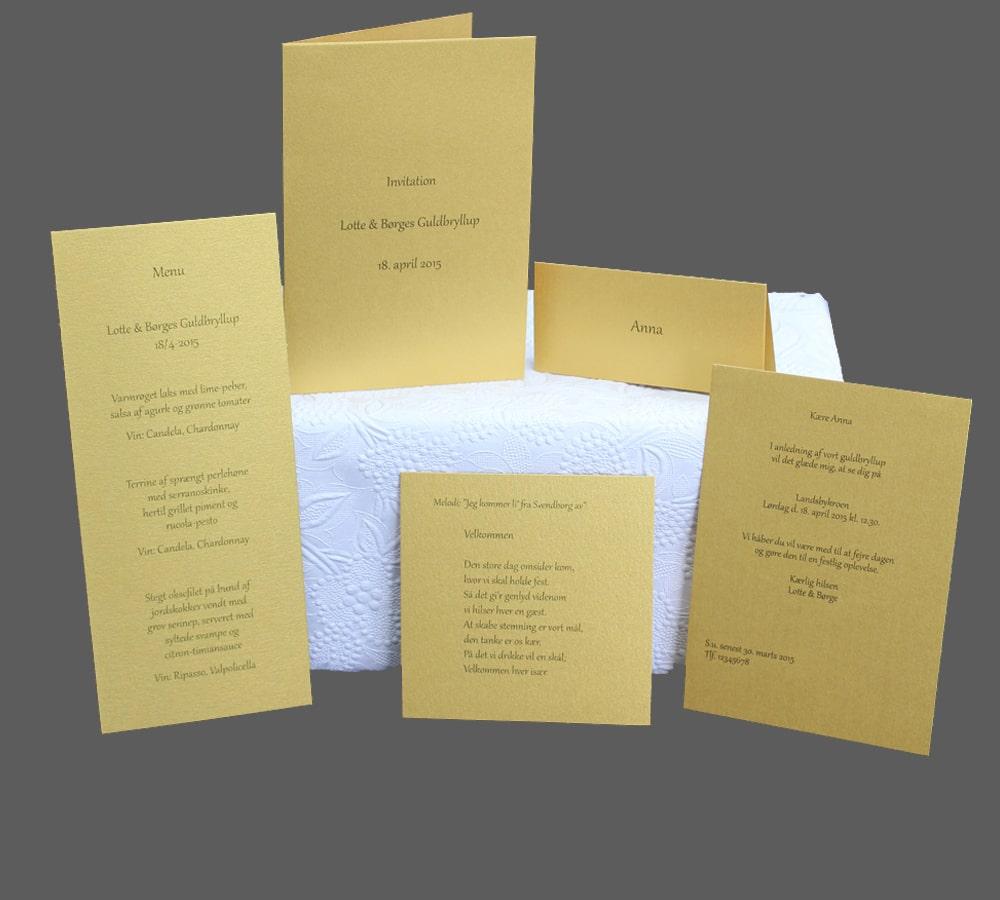 invitation guldbryllup tekst