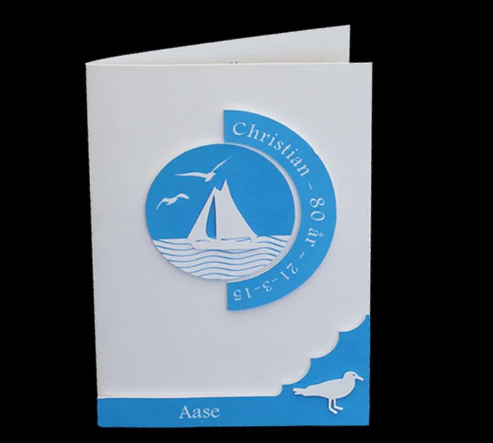 fødselsdagsindbydelse til fødselaren der sejler