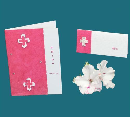 Pink konfirmationskort
