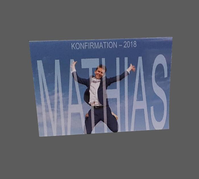 Konfirmationskort med foto