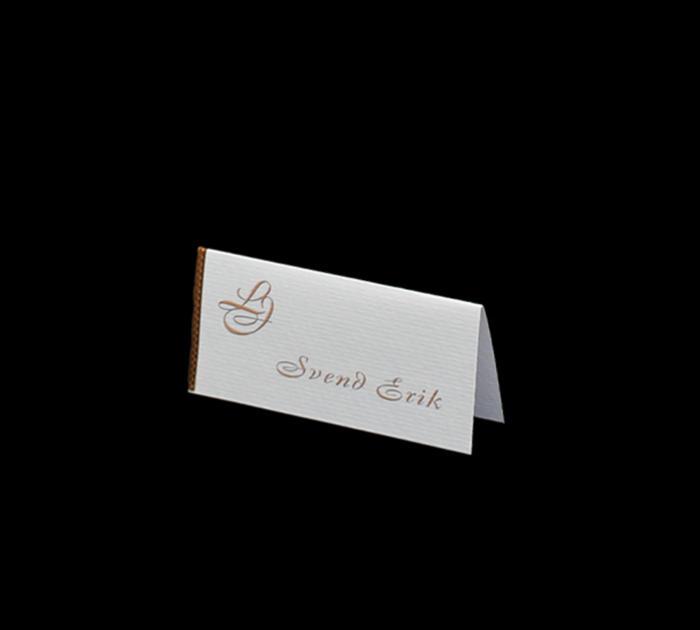 bordkort til kobberbryllup med monogram