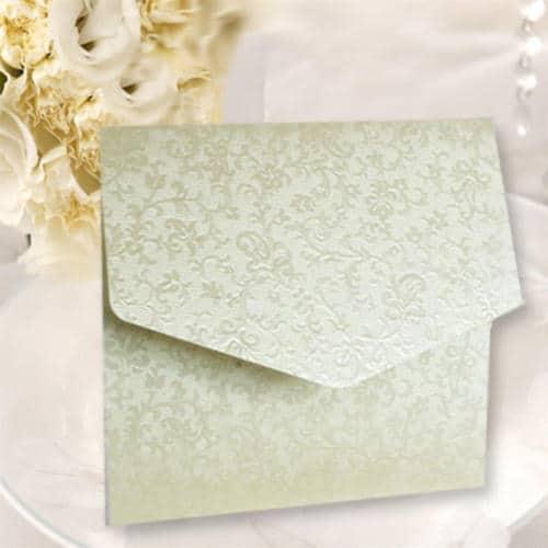 Kvadratisk kuvert kort elfenben