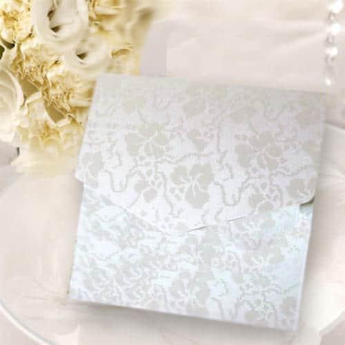 Kvadratisk lommekort hvid