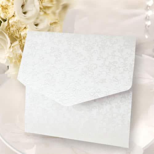 Pocket kort firkantent hvidt