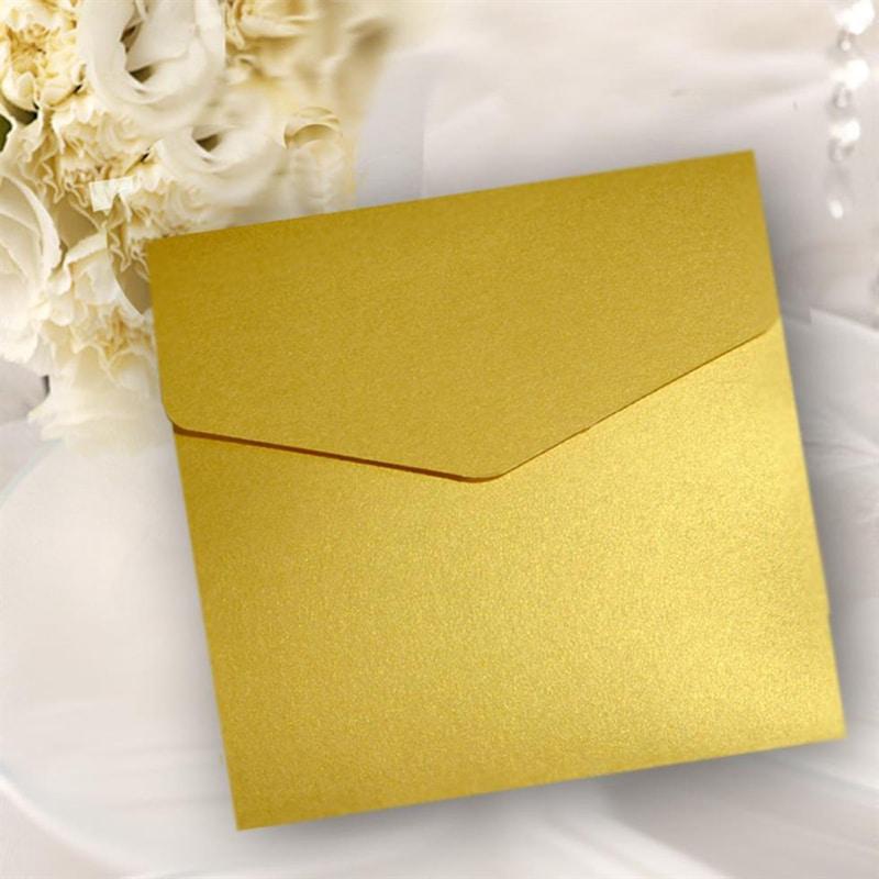 Firkantet lommekort guld