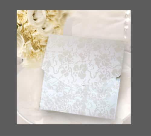 lommekort til sølvbryllupsindbydelser