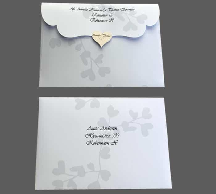 Specieltdesignet konvolut