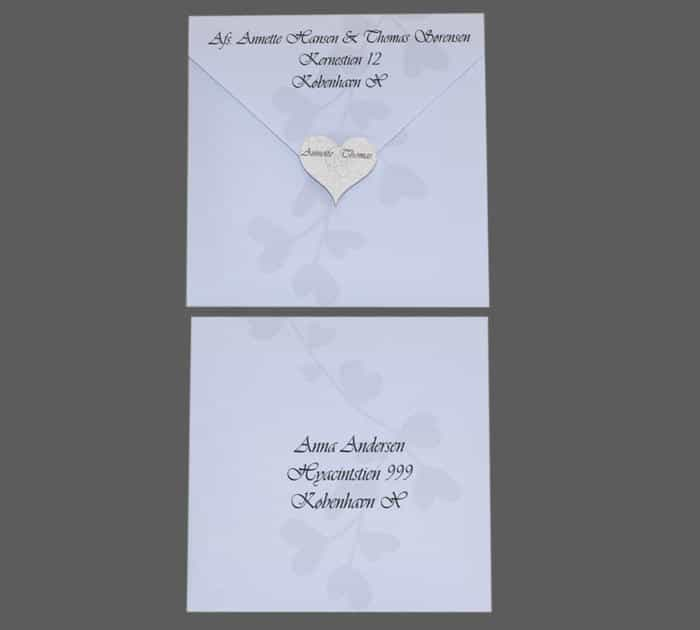 Kuvert til save-the-day Amor