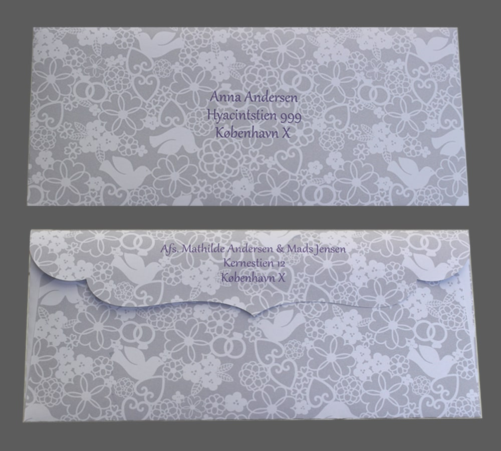 Specialdesignet kuvert