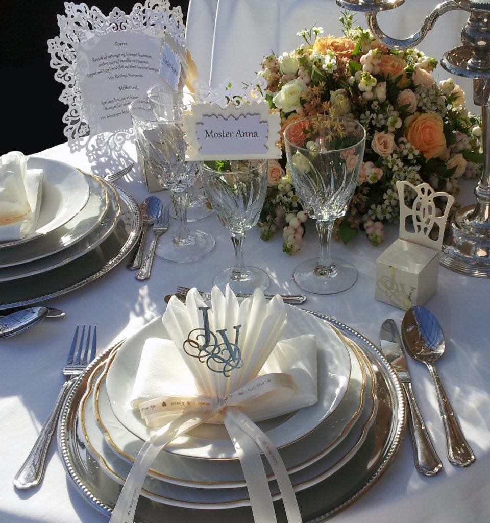 Bryllupsbord hos Festivitas