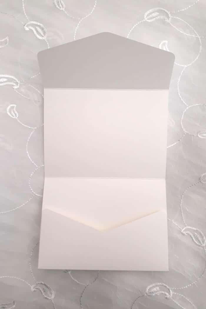 Lommekort struktur linned hvid