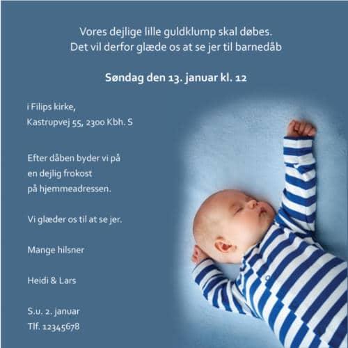 barnedåbsinvitation email