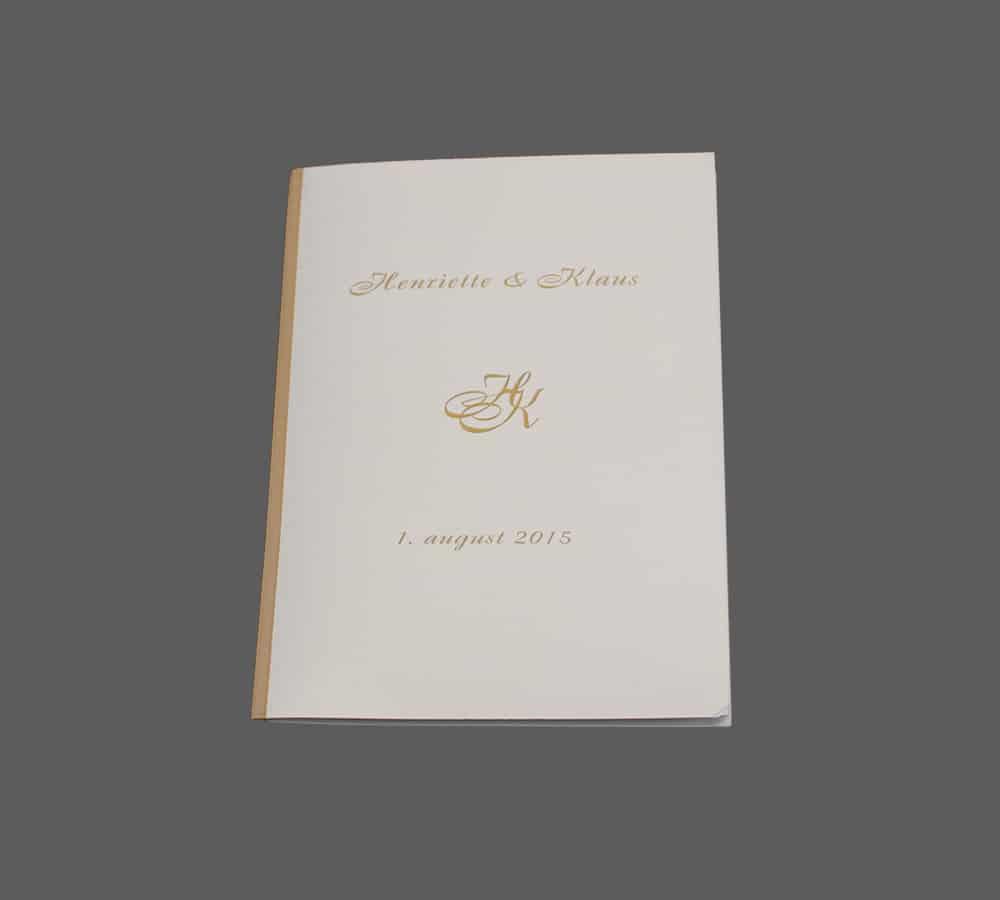 Invitation med monogram