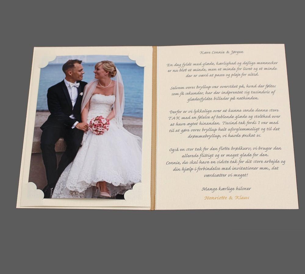 Takkekort til bryllup - Simplicity
