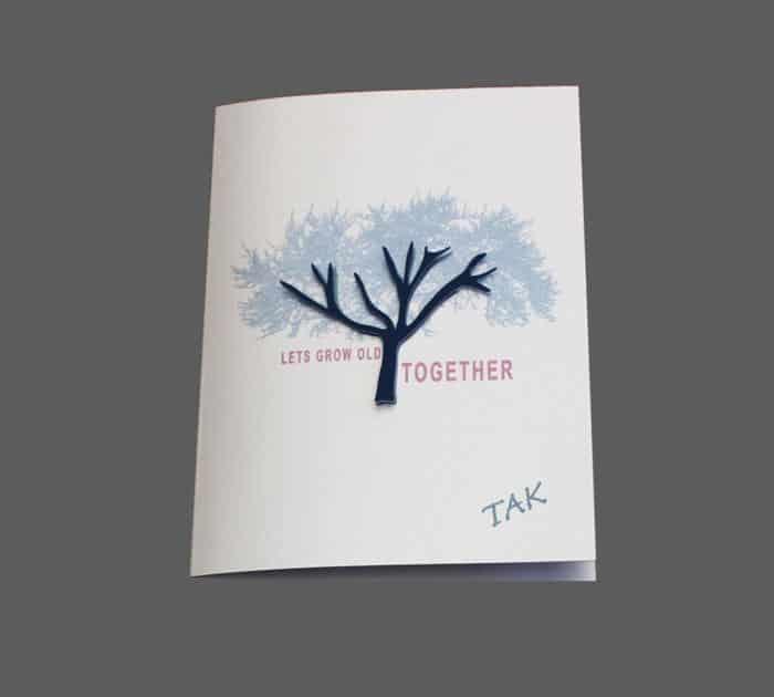 Takkekort - tema: et kærlighedstræ