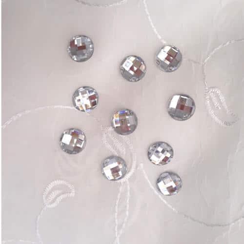 runde krystaller til at lime på emner
