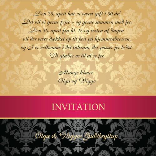 E-invitation guldbrokade