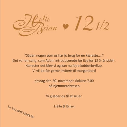 E-invitation med monogram Boulevard