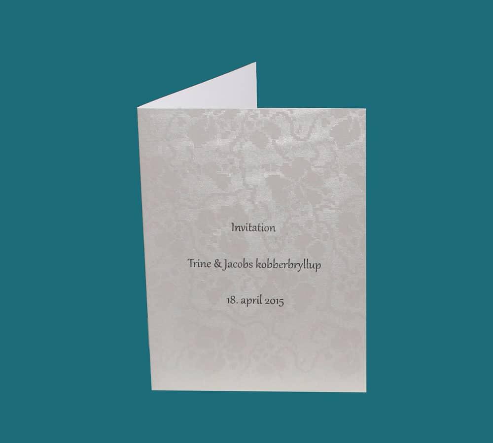 Enkelt invitationskort