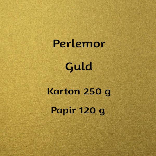 karton til velkomstsang, perlemor guld