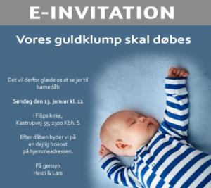Email Barnedåbsinvitation