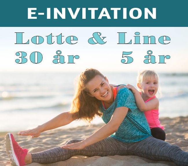 E-invitation til fødselsdag