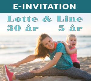 E-invitation fødselsdag