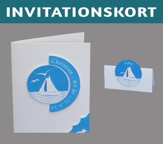 Invitationskort til fødselsdag