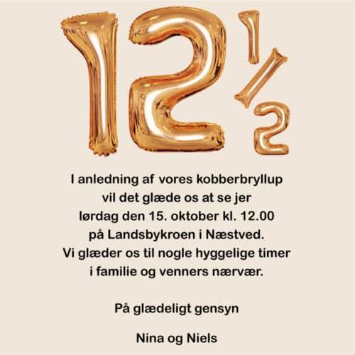 E-invitation kobberbryllup