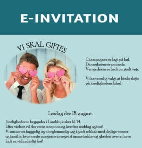 E-invitation bryllup