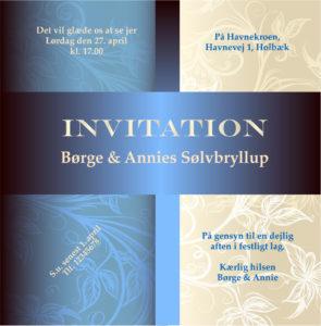 Invitation inddelt i felter