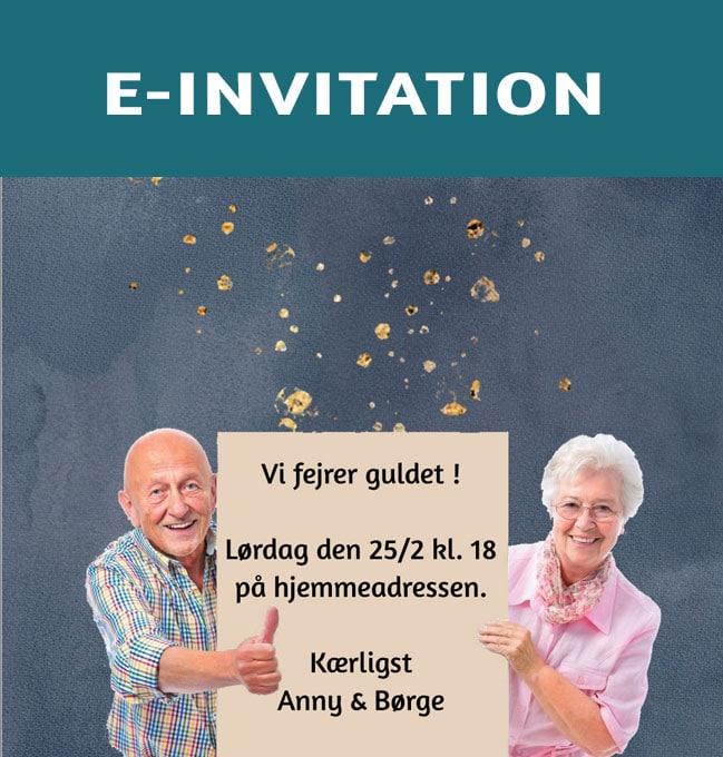 Se email invitationer og takkekort